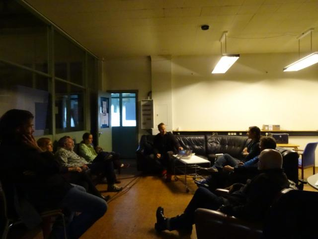 Meeting with Andri Snær Magnason at Toppstöðin, Reykjavík. Photo: Lisa Paland, 2015.