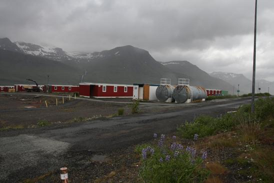 Abandoned workers' camp, Reyðarfjörður. Photo: Lisa Paland, 2015.