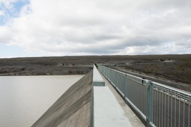 At Kárahnjúkar hydroelectric dam. Photo: Lisa Paland, 2015.