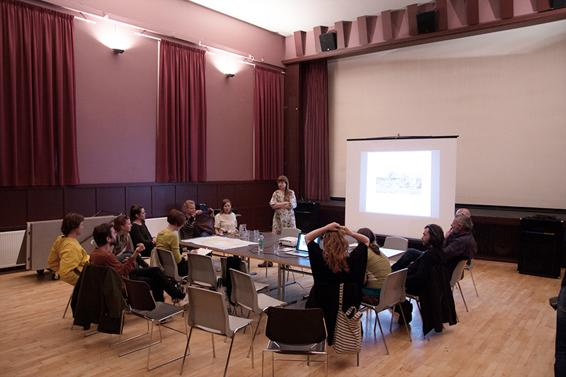 Project presentation, Seyðisfjörður theatre. Photo: Lisa Paland, 2015.