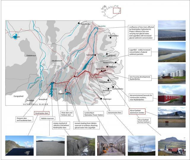 Julia Martin, Kárahnjúkar–Reyðarfjörður–Héraðsflói. Documentation of field study, 2014.
