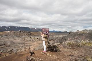 Leirhnjúkur lava fields near Krafla, Iceland, August 2015. Photo: Lisa Paland, 2015.