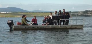 Most jezero, expedice s hydrobiologickým plavidlem