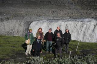 At Dettifoss waterfall. Photo: Lisa Paland, 2015.
