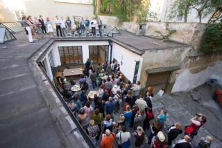 An opening at Školská 28 Gallery